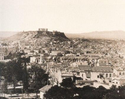 Άποψη των Αθηνών περίπου 1890.