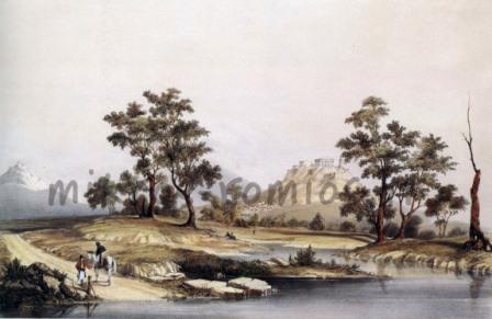 Άποψη των Αθηνών, μέσα 19ου αιώνα, Η. Cook.