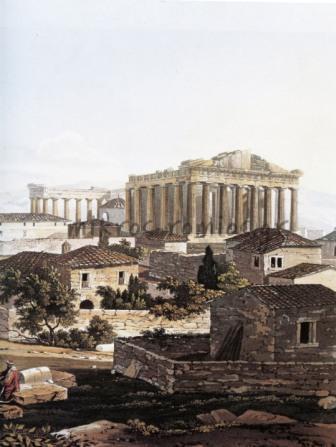 H Aκρόπολη των Αθηνών κατά την περίοδο της Τουρκοκρατίας, 1805-1806, Edward Dodwell.