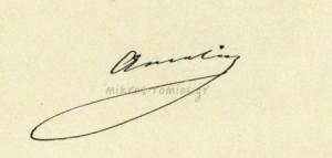 Ιδιόχειρη υπογραφή της βασίλισσας Αμαλίας.